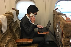 JR Kyushu, a railway company in Japan, prepares a share office function in Shinkansen for traveling workers
