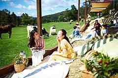 星野リゾート トマムに「巨大牧草ベッド」を設置、全長30メートル、広大な緑の農場を眺める