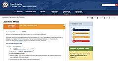 米国、日本への渡航警戒を「渡航中止」から「再検討」に引き下げ、ワクチン非接種者は渡航回避を呼びかけ