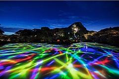 チームラボ、九州の温泉地で大自然のデジタルアート展、サウナ施設とコラボも