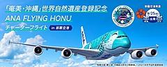 ANA、新たな世界遺産登録で記念フライトやエコツアー、A380超大型旅客機での世界遺産上空をめぐる遊覧チャーターなど