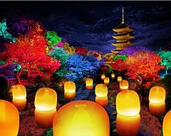 チームラボ、京都・東寺でデジタル演出の期間限定イベント、創建1200年の世界遺産をアート空間に