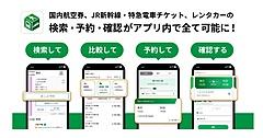 総合ナビアプリ「NAVITIME」で旅行予約が可能に、航空券・新幹線・特急列車・レンタカーなど、ルート検索後の詳細画面から