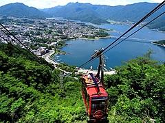 富士急行、河口湖と富士山一望の「絶景パノラマ回廊」、パノラマロープウェイの山頂にスロープ整備