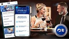 プリンセス・クルーズ、船内での食事スピードや座席位置など選択できる新サービス、ウェアラブルデバイスから非接触で