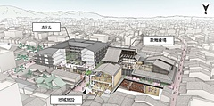 京都市・東山区の新道小学校跡地に上質な宿泊施設、宮川町歌舞練場は建て替え、2025年夏開業へ